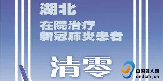 湖北在院治疗新冠患者清零 中央指导组离鄂返京